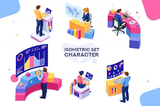 Conjunto de escritorio isométrico