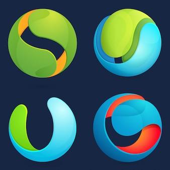 Conjunto de esfera abstracta.