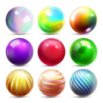 Conjunto de esfera brillante