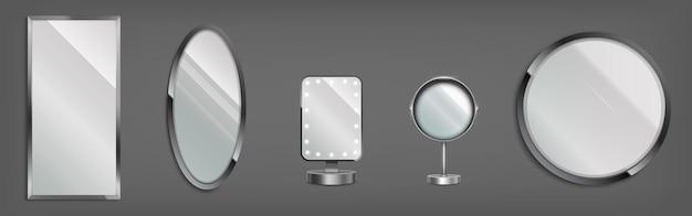 Conjunto de espejos 3d