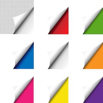 Conjunto de esquina grande colorido aislado