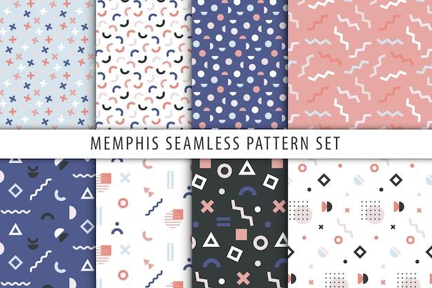 Conjunto de estampados geométricos abstractos.