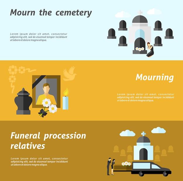 Conjunto de estandarte funerario