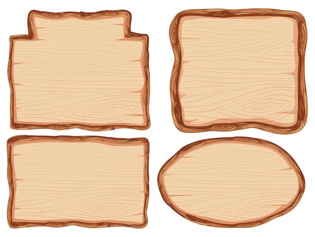 Conjunto de estandarte de madera.