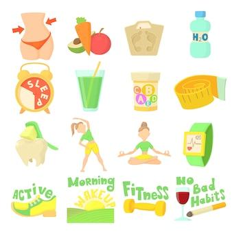Conjunto de estilo de vida saludable