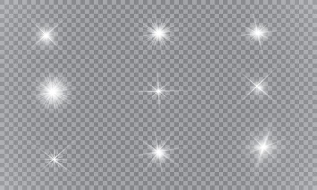 Conjunto de estrellas de luz brillantes.