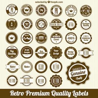 Conjunto de etiqueta circulares de calidad