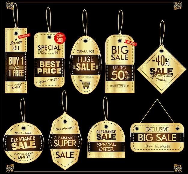Conjunto de etiqueta de precio