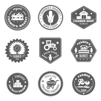 Conjunto de etiquetas de agricultores