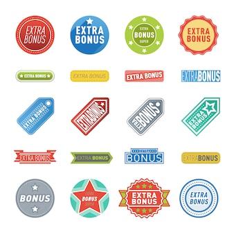 Conjunto de etiquetas de bonificación extra.