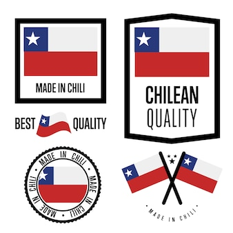 Conjunto de etiquetas de calidad de chile