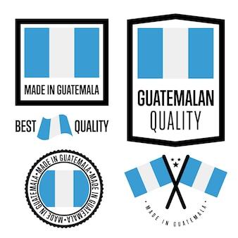 Conjunto de etiquetas de calidad de guatemala