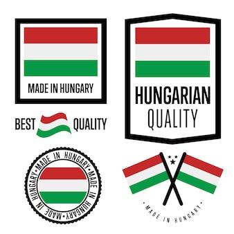 Conjunto de etiquetas de calidad de hungría