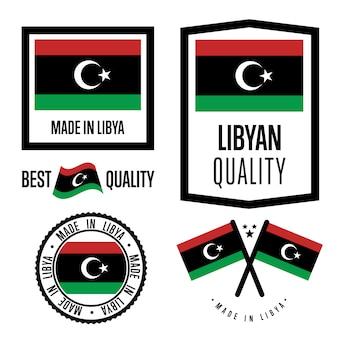 Conjunto de etiquetas de calidad de libia