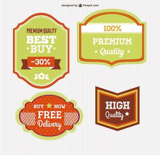 Conjunto de etiquetas comerciales gratuitas