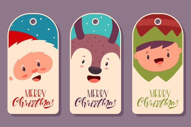 Conjunto de etiquetas de etiqueta de navidad