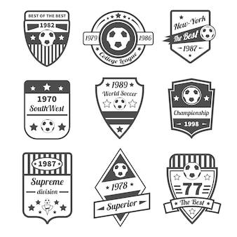 Conjunto de etiquetas de fútbol
