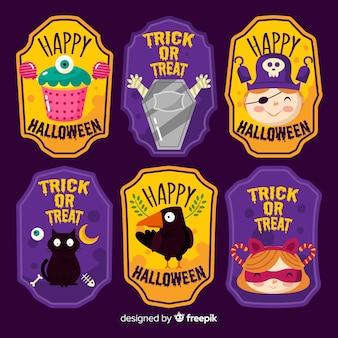 Conjunto de etiquetas de halloween