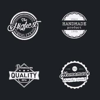 Conjunto de etiquetas hechas a mano, caseras y de la más alta calidad.