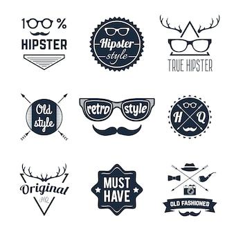 Conjunto de etiquetas de hipster