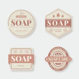 Conjunto de etiquetas de jabón creativas