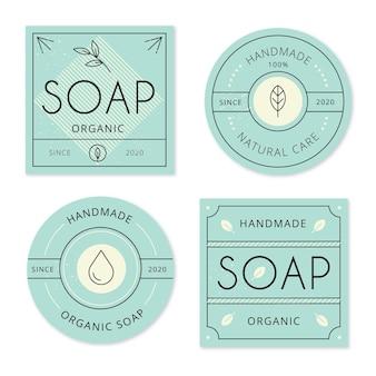 Conjunto de etiquetas de jabón