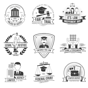 Conjunto de etiquetas de justicia
