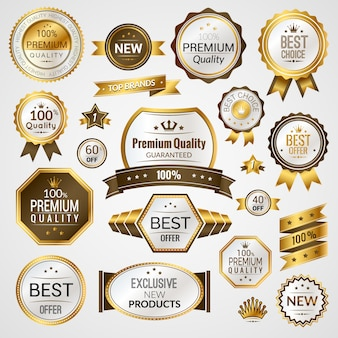 Conjunto de etiquetas de lujo