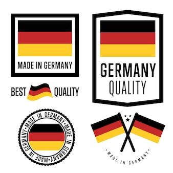 Conjunto de etiquetas made in germany