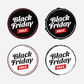 Conjunto de etiquetas o etiquetas de venta de viernes negro