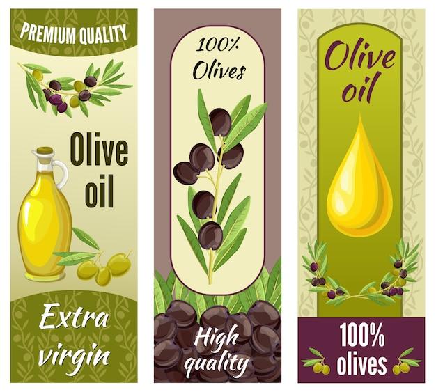 Conjunto de etiquetas de oliva