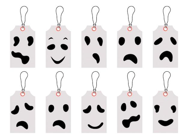 Conjunto de etiquetas de precio de halloween o etiquetas