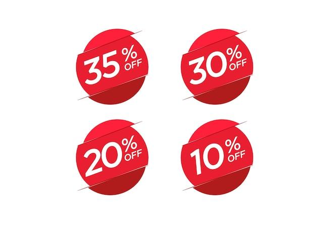 Conjunto de etiquetas de precio de oferta de descuento