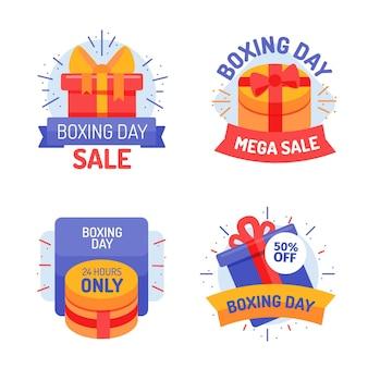 Conjunto de etiquetas de venta de boxing day