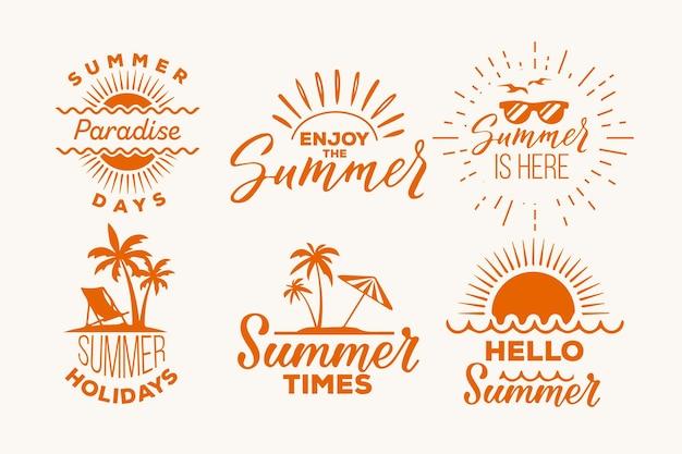 Conjunto de etiquetas de verano