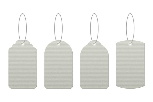 Conjunto de etiquetas vintage con diseño de vector de cadenas aislado
