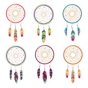 Conjunto étnico, amuleto tribal.