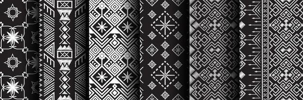 Conjunto étnico de patrones sin fisuras