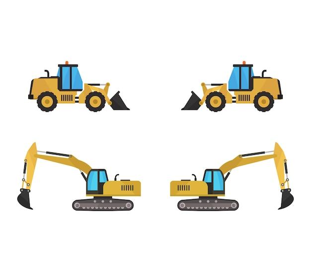 Conjunto de excavadoras