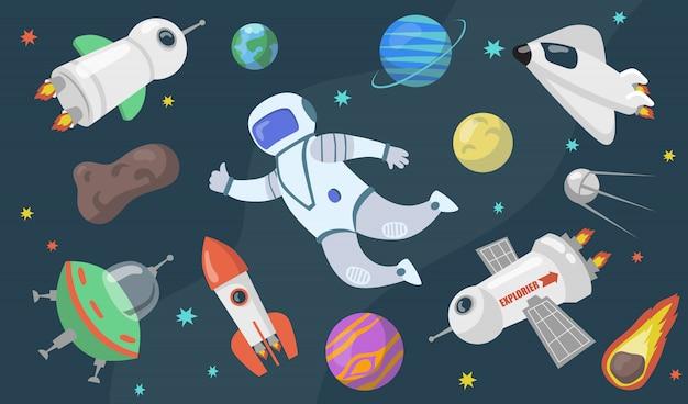 Conjunto de exploración del espacio exterior.