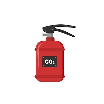 Conjunto de extintores rojos