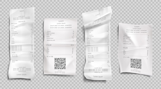 Conjunto de factura de recibo