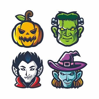 Conjunto de fiesta de halloween monstruo