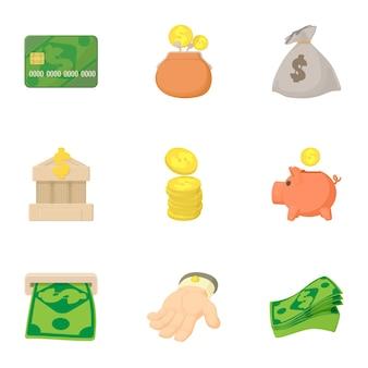 Conjunto de financiación, estilo de dibujos animados