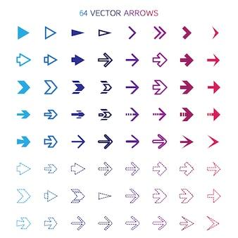 Conjunto de flechas aisladas, deshacer y botones anteriores.