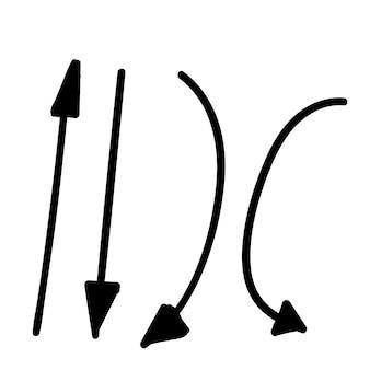 Conjunto de flechas handdraw doodle