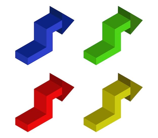Conjunto de flechas isométricas