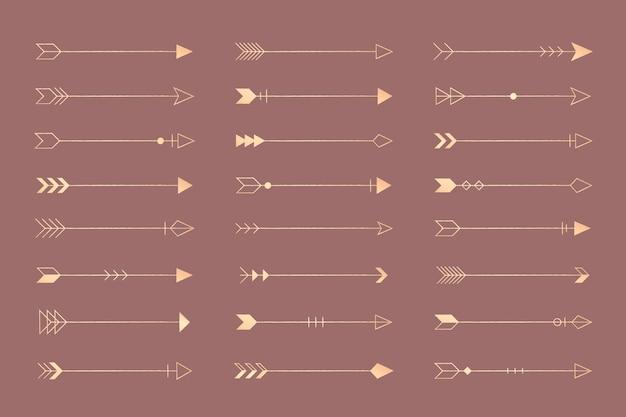 Conjunto de flechas vintage