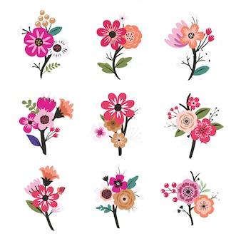 Conjunto de flor