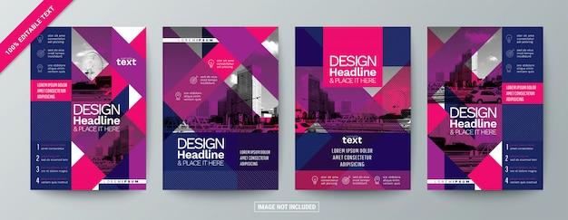 Conjunto de folleto de folleto comercial moderno con texto editable